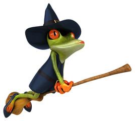 Witch frog - 3D Illustration
