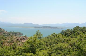 Le lac de Köyceğiz et le canal de Dalyan en Anatolie