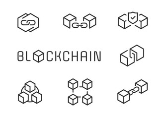 Blockchain icon set