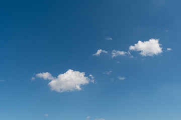 White clouds in the summer sky