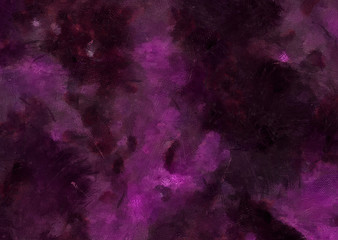 Detailed close-up grunge multi color abstract background. Dry brush strokes hand drawn oil painting on canvas texture. Creative simple pattern for graphic work, web design or wallpaper. Antique effect