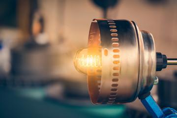 DIY lamp made from scrap metal