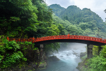 beautiful shinkyo bridge at Nikko, Japan