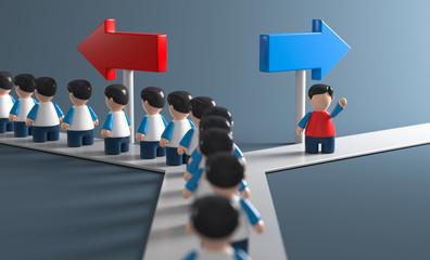 3D Weg eigne Entscheidungsfreiheit