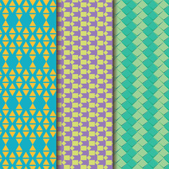 Set of pattern background. Colorful artistic elements.
