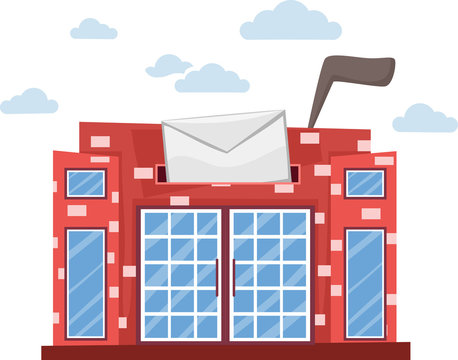 Post Office Building Abstract Illustration