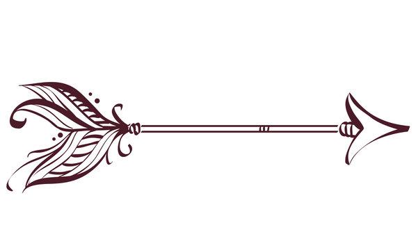 Boho Arrow Design Illustration