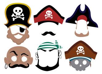 Pirate Printable Mask Illustration