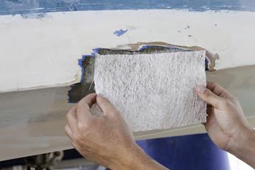 Polyester boat repair Fotomurales