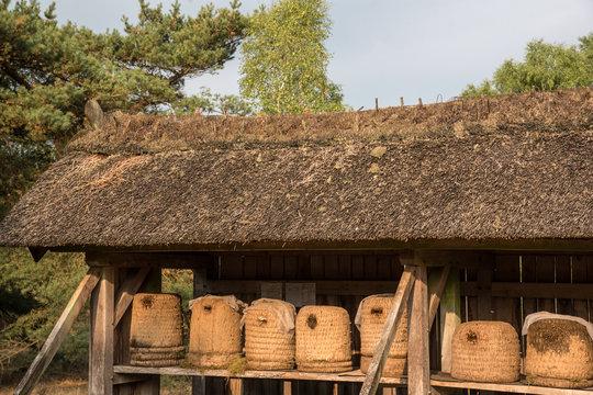 Traditionelle Bienenkörbe