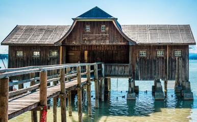 wooden shacks
