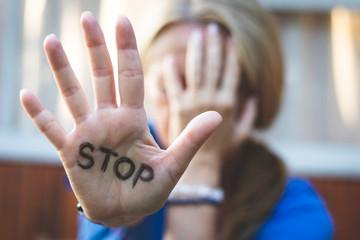Stop violence against women.
