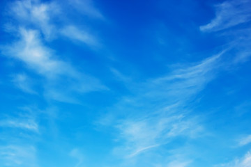 View on beautiful white clouds in a blue sky