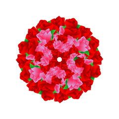 rose flower vector ornament. vector decoration ready for use