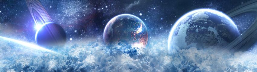 планеты в космосе - сатурн Wall mural