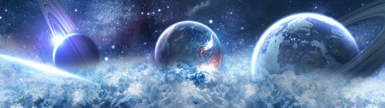 планеты в космосе - сатурн