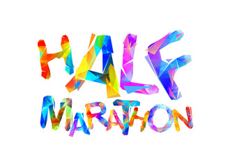 Half marathon. Word of triangular letters