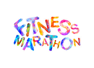 Fitness marathon. Words of triangular letters