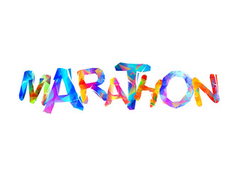 Marathon. Word of triangular letters