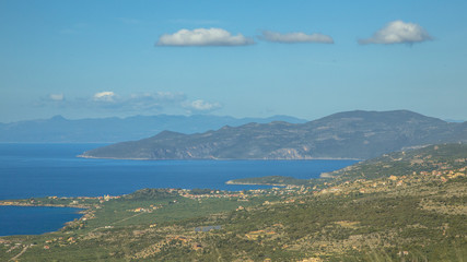 Wall Mural - View over peloponnese coast