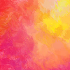 Colorful background. Bright red yellow pink orange painted background. Abstract painted texture. Free space for branding, packaging design, greetings, invites, weddings.