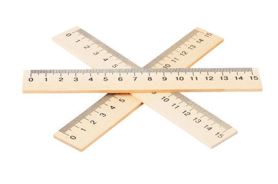 Retro wooden ruler