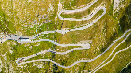 Furka Pass - Switzerland, Glacier Aerial Photography Wall mural