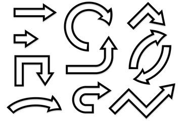 Outline arrows