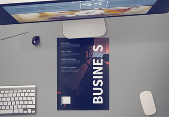Light Blue and White Brochure Layout