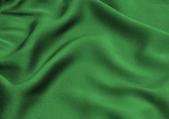 Green satin, silk, texture background Wall mural