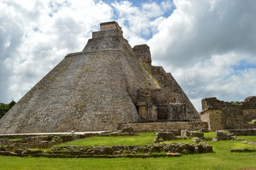 Uxmal Ruine Pyramide; Maya-Stätte, Mexiko