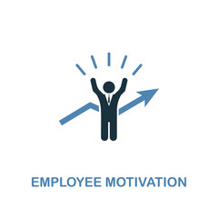Employee Motivation icon. Pixel perfect. Monochrome Employee Motivation icon symbol from human resources collection. Two colors element for web design, apps, software, print.