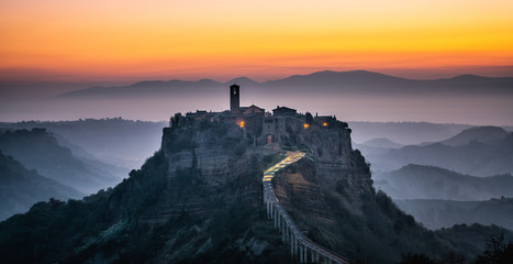 Civita di Bagnoregio, beautiful old town in Italy. Fototapete