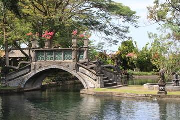 Drachentreppen Wasserpalast Tirta Gangga Bali Indonesien