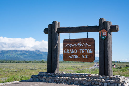 Grand Teton National Park Welcome Sign