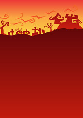happy halloween roughen gradient background, red night party greeting, vector illustration