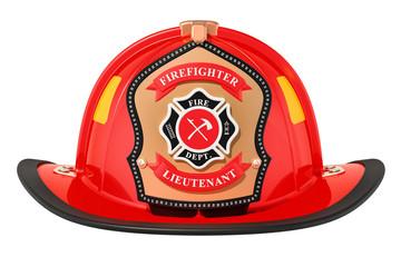 Firefighter Helmet closeup, 3D rendering