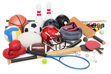 Sports game equipment. 3D rendering