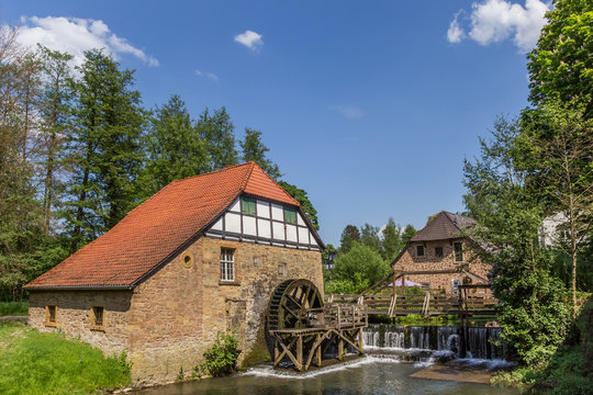 Watermill in the historic city of Lemgo, Germany