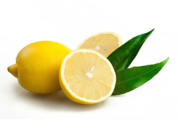 Fresh yellow lemon