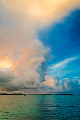Storm passes while sailing in the Bahamas