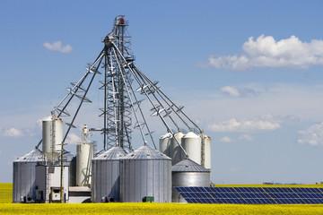 Canola Grain Silo Solar Panel