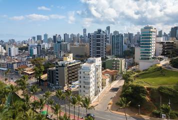skyline aerial view of the city of Salvador Bahia