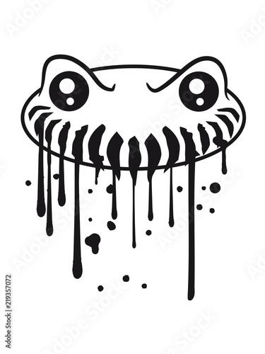 Kopf Tropfen Spucke Sabber Graffiti Suss Neidlich Mund Fresse Grinsen