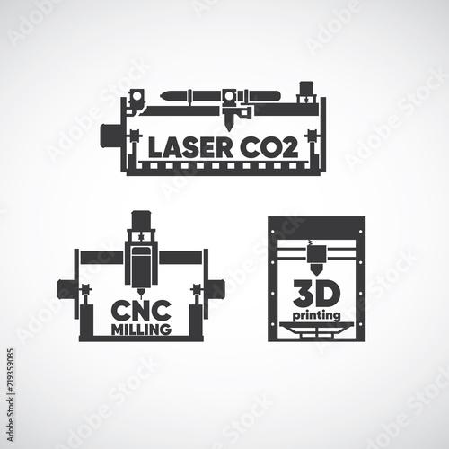 laser co2, laser cutting, cnc milling, cnc machine, 3d printing, 3d