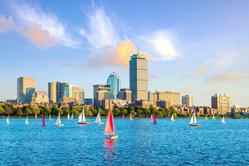 Foto op Plexiglas Verenigde Staten View of Boston Skyline in summer afternoon