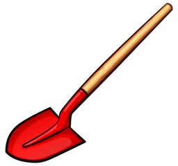 Vector shovel color design concept