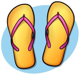 Vector flip flops design concept