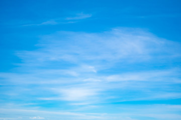 Copy space summer blue sky and white cloud abstract background.