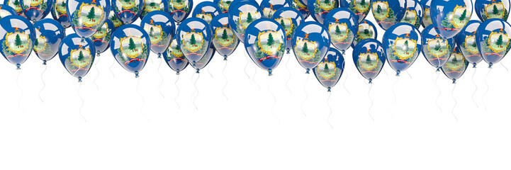 Balloons frame with flag of vermont. United states local flags